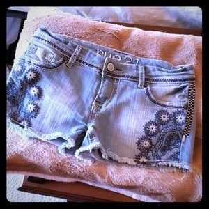 India Paisley flower Jean shorts